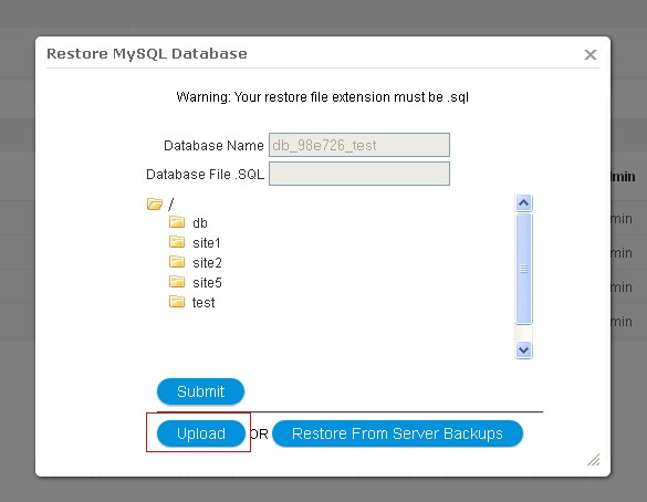 how to create a new database for my local site
