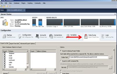 how to create dump file in mysql